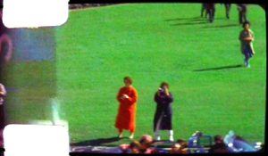 Jean Hill - Jean Hill (left) and Mary Moorman (right) as captured in Frame 298 of the Zapruder film, just less than one second before the fatal head shot.
