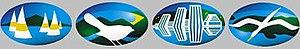 Television New Zealand - Horizon Pacific Television logos for ATV, Coast to Coast, Capital and Southern TV