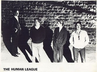The Human League - The 'original' Human League in July 1980. From left to right Oakey, Wright, Marsh, Ware.