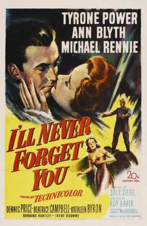 I'll Never Forget You (film) - American theatrical release poster