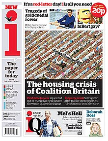 Front page of i