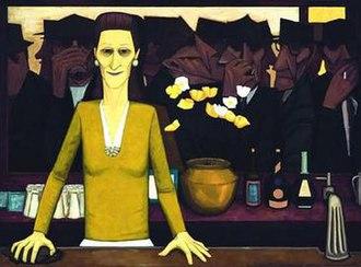 Six o'clock swill - The Bar (1954) by John Brack