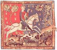 John deer hunting, from a manuscript in the British Library.