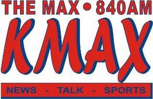 KMAX (AM) - Image: KMAX The Max 840AM logo