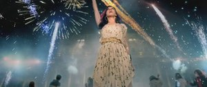 Firework (song) - Perry dancing with others at the Buda Castle with fireworks bursting from them