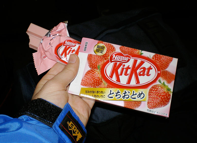 File:Kit Kat Strawberry with packaging.jpg