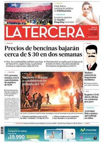 La Tercera - Image: La Tercera, 12 September 2013