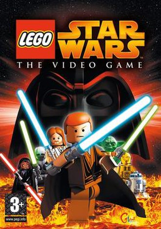 Lego Star Wars: The Video Game - European cover art for Lego Star Wars: The Video Game