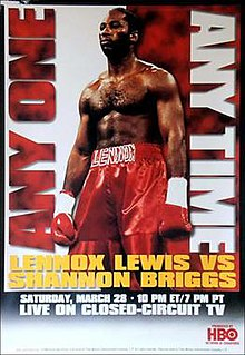 Lennox Lewis vs. Shannon Briggs Boxing competition