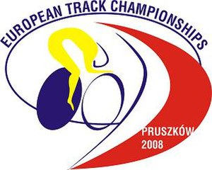 2008 UEC European Track Championships - Image: Logo of the 2008 European Track Championships