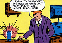 Luthor debuted in Action Comics #23 (1940). Art by Paul Cassidy.