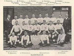 1895–96 Northern Rugby Football Union season - Image: Manningham championship team 1896