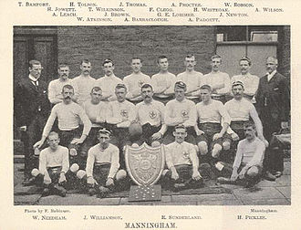 History of Bradford City A.F.C. - Manningham F.C., the first rugby league champions in the world, who were later to switch codes to become Bradford City A.F.C.