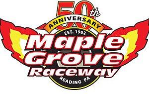 Maple Grove Raceway - Image: Maple Grove Raceway 50th Anniversary Logo