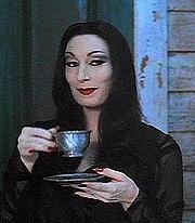 Anjelica Houston as Morticia in The Addams Family film (1991).
