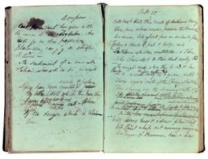 Ode to the West Wind -  Percy Bysshe Shelley's fair draft of lines 1–42, 1819, Bodleian Library