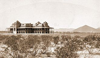 Old Main, University of Arizona - Image: Old Main Uof A 1889
