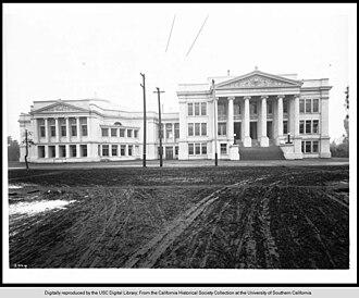 Edith Jordan Gardner - Old, neoclassical campus of Polytechnic High near  LA's historic core, 1905