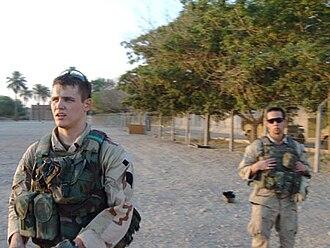Luke Elliott Sommer - Sommer and Olinger in Iraq, 2004