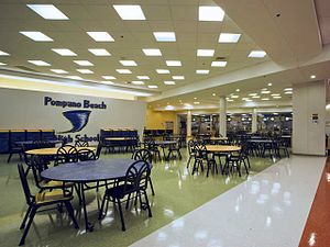 Pompano Beach High School - Pompano Beach High Cafeteria