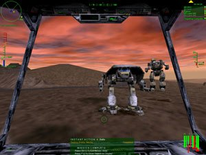 MechWarrior 3 - In-game screenshot of Mechwarrior 3 with a 'Puma' Light Mech and a 'Thor' Heavy Mech