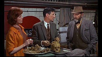 Quatermass and the Pit (film) - Barbara Shelley (Barbara Judd), James Donald (Dr Roney) and Andrew Keir (Quatermass) in a scene from Quatermass and the Pit