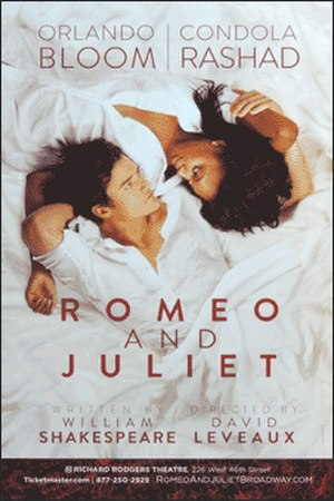 Romeo and Juliet (2013 Broadway play) - Poster of the 2013 Broadway theatre production