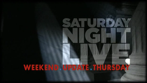 Saturday Night Live Weekend Update Thursday - Image: SNL Weekend Update Thursday title card