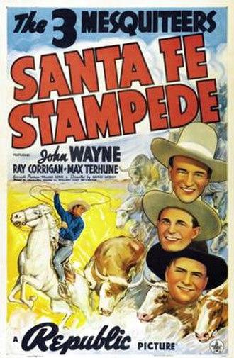 Santa Fe Stampede - Theatrical poster