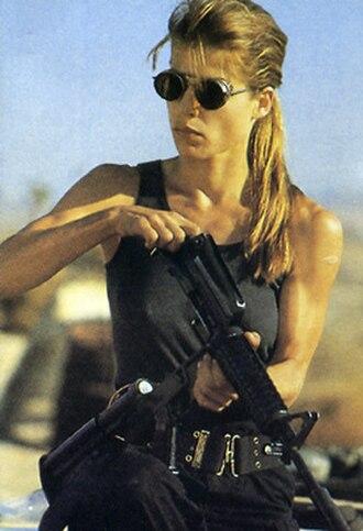 Sarah Connor (Terminator) - Linda Hamilton as Sarah Connor in Terminator 2: Judgment Day.