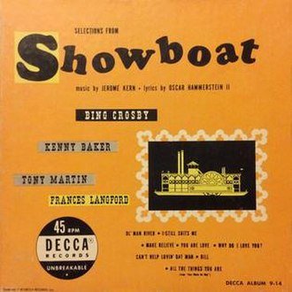 Selections from Showboat - Image: Selections from Showboat (album cover)