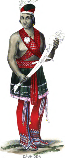 Seneca man in traditional costume