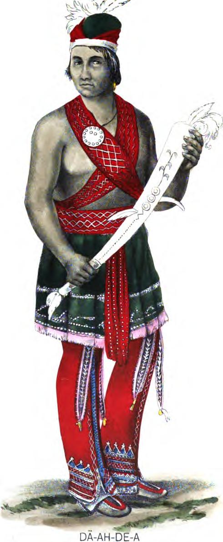 Seneca man in traditional costume