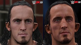 WWE 2K16 - Screenshot showing the improvement in detail of Neville's character model
