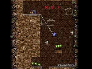 The Adventures of Shuggy - In The Adventures of Shuggy the player character must clear a mansion of enemies by collecting gems and keys hidden within it.
