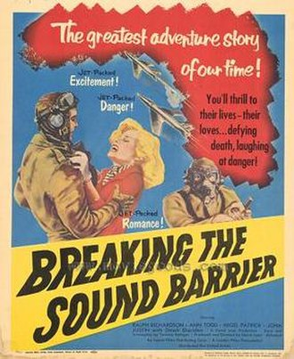 The Sound Barrier - U.S. theatrical release poster