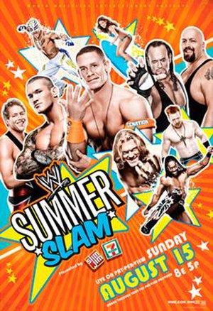SummerSlam (2010) - Promotional poster featuring various WWE wrestlers