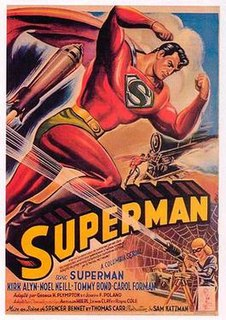 <i>Superman</i> (serial) 1948 15-part black-and-white Columbia film serial based on the comic book character Superman
