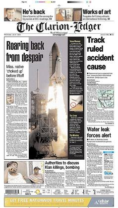 The Clarion-Ledger front page