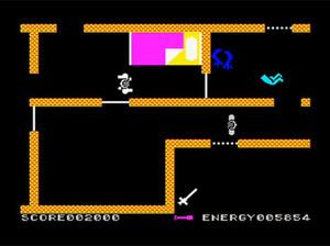 The Evil Dead (video game) - Screenshot from the ZX Spectrum version of the game