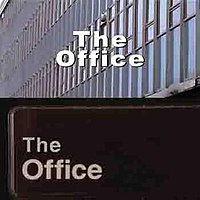 The title cards of the UK (above) and US (below) versions of The Office.