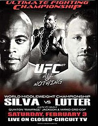 A poster or logo for UFC 67: All or Nothing.