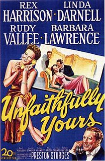 <i>Unfaithfully Yours</i> (1948 film) 1948 film by Preston Sturges