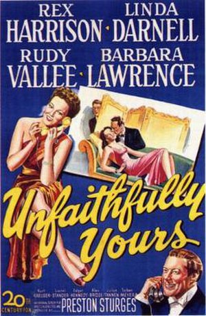 Unfaithfully Yours (1948 film) - theatrical poster