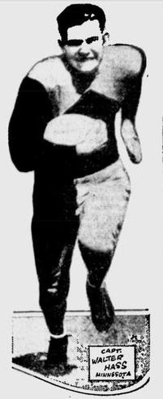 Walter Hass - Hass as Minnesota captain in 1932