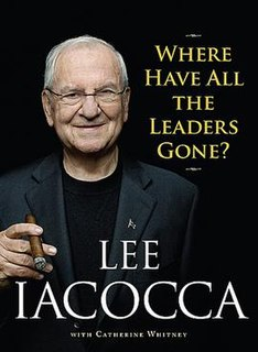 <i>Where Have All the Leaders Gone?</i> book by Lee Iacocca