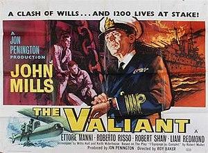 The Valiant (1962 film) - British quad poster