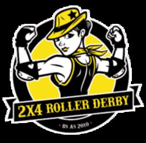 2×4 Roller Derby - Image: 2X4 Roller Derby logo