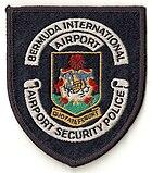 Patch della polizia di sicurezza dell'aeroporto di Bermuda