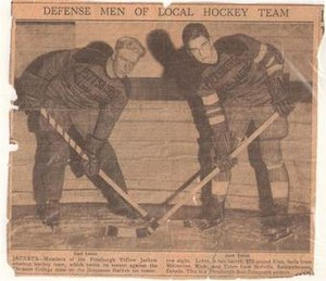 Pittsburgh Yellow Jackets - The Yellow Jackets relied on several unknown amateur players, Carl Lehto and Jack Tuten, when the team left the IHL for the 1934-35 season.